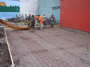 Concrete Slab for Recycle North