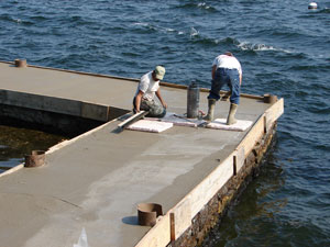 Dock Repair on Lake Champlain