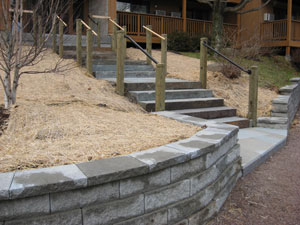 Cement Steps and Retaining Wall